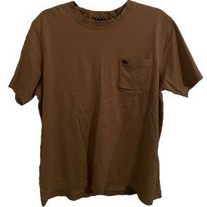 Burberry Men's Medium Tan Pocket T-Shirt